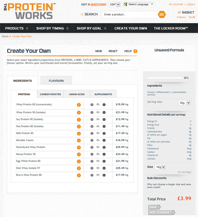 Create Your Own Supplement At The Protein Works