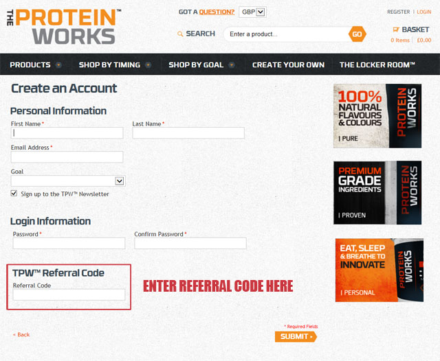 The Protein Works Referral Code