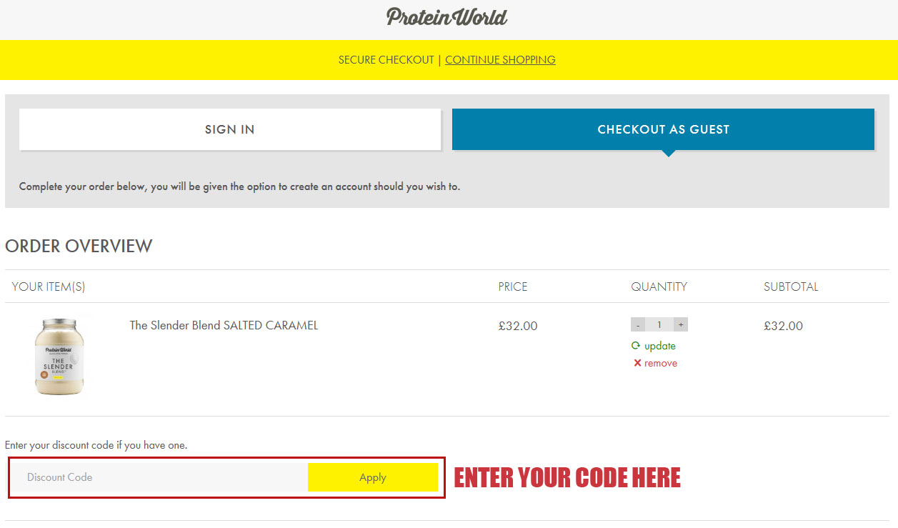 Protein world coupon code april 2018